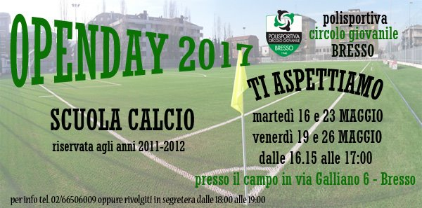 Open day calcio
