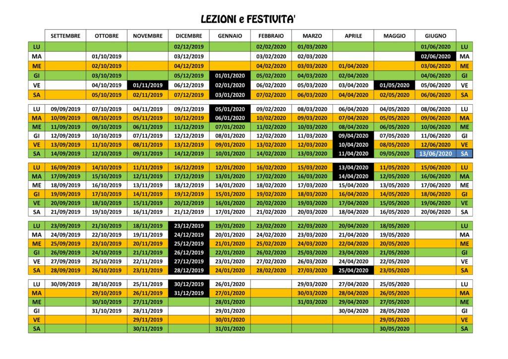 Calendario Delle Festivita 2020.Calendario Polisportiva Circolo Giovanile Bresso